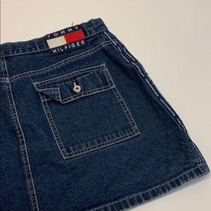 Vintage Tommy Hilfiger mini jean skirt